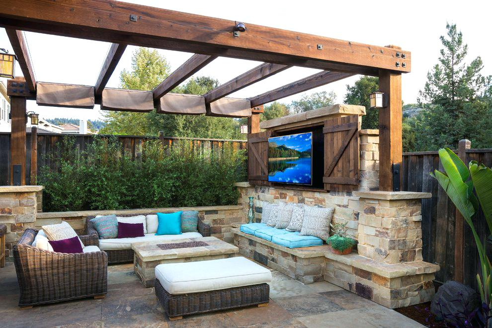 Aménagement de patio : 6 idées de déco tendance | Agir ... on Small Outdoor Covered Patio Ideas id=30491